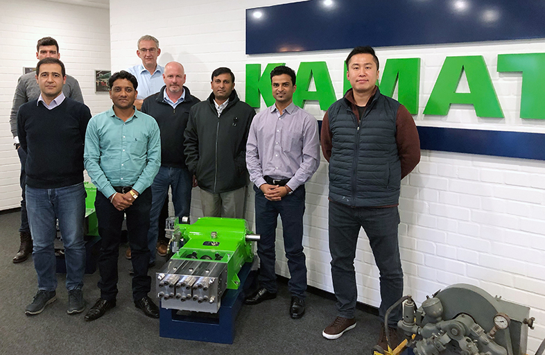 Sales and technical training at KAMAT: Refreshing sales and technical knowledge of sales personnel from KAMAT distributor companies from Asia, India, Near/ Middle East and from Turkey in a three-day sales training
